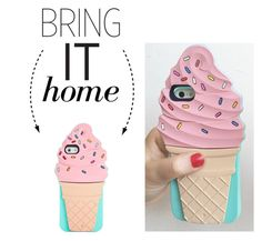 """""""Bring It Home: Kate Spade Ice Cream Phone Case"""" by polyvore-editorial ❤ liked on Polyvore featuring interior, interiors, interior design, home, home decor, interior decorating, Kate Spade and bringithome"""