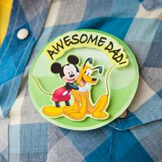Mickey & Friends Father's Day Buttons
