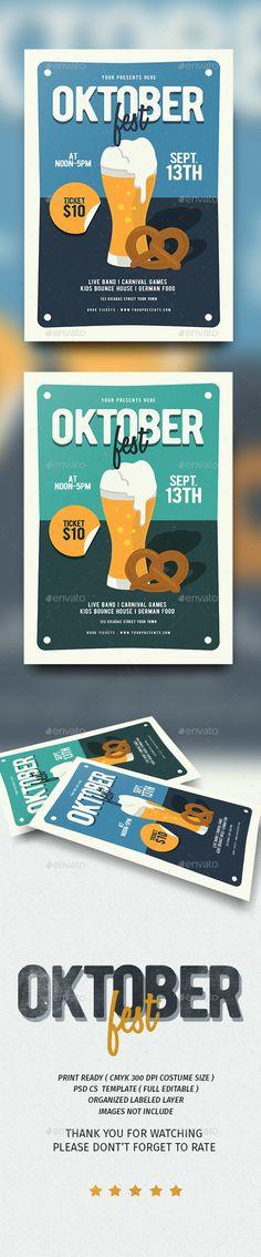 Oktoberfest Flyer Template PSD #download                                                                                                                                                                                 More