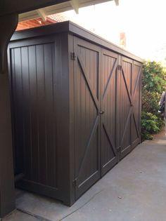 Garden shed storage