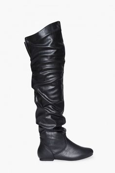 Vickie Scrunch Boots in Black | Necessary Clothing