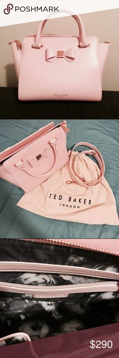 NWOT Ted Baker bag really cute bag, size small, come with dust bag and strap. Price is firm. Free ship for $180 on Mercari. Ted Baker London Bags Totes