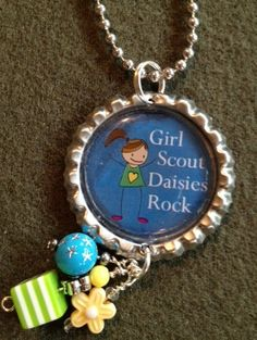 Girl Scout Daisies Rock inspired Bottle Cap by Bottlecapbling101, $7.00