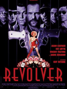 Revolver is a 2005 crime thriller film co-written and directed by Guy Ritchie and starring Jason Statham, Ray Liotta, Vincent Pastore and André Benjamin. Ray Liotta, Hd Movies, Movies To Watch, Movies Online, Movie Tv, Anthony Hopkins, Revolver, Brad Pitt, Jason Statham Movies