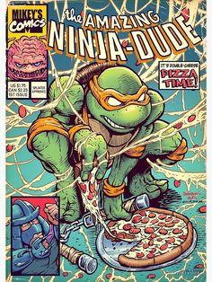 Comic Book Covers, Comic Books Art, Comic Art, Book Art, Teenage Mutant Ninja Turtles, Ninja Turtles Art, Teenage Turtles, Vintage Cartoons, Vintage Comics