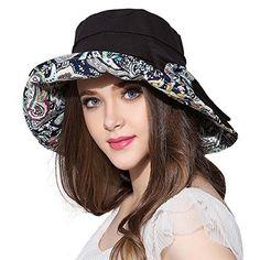 d4380ceb758 Details about Fancet Womens Packable Cotton Sun Summer Bucket Hat Beach  Bonnie Spf Strap 54
