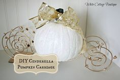 Cinderella's Carriage Centerpiece Craft~ Don't forget Cinderella carriage personalized napkins to match your theme! Description from pinterest.com. I searched for this on bing.com/images
