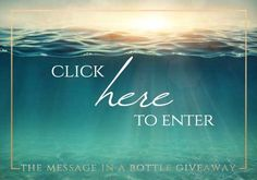 To celebrate our readers! The Message in a Bottle Blog Hop & Giveaway (stop #1) | Joanne Bischof ~ Heartfelt Fiction