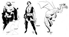 Herculoids redesigns by Mike Mignola