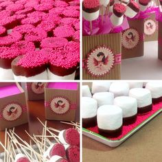 Centros de mesa #DIY #Masmelos decorados #PrimeraComunion #PinkParty