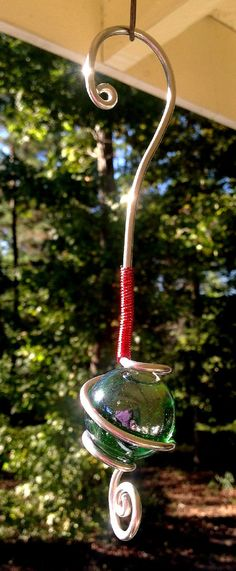 Fancy Christmas Holiday Ornament Glass Globe Wire by TUTreasures, $15.50