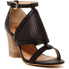 Bucco Vibbie Heeled Sandal ($18) ❤ liked on Polyvore