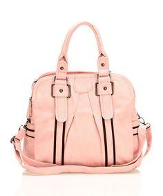 Segolene Pink & Black Satchel