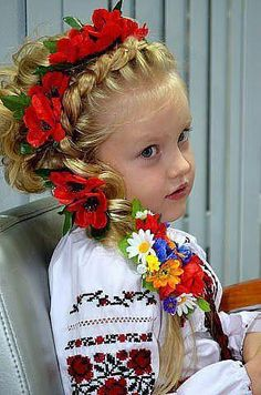 Beautiful hairsyle on a Cute little Girl from Ukraine