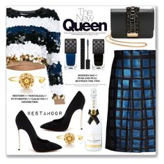"""""""blue"""" by estamoor ❤ liked on Polyvore featuring Sonia Rykiel, Kenzo, GEDEBE, Casadei, Gucci and MoÃ«t & Chandon"""