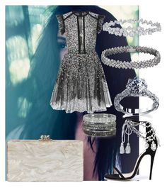 """""""Lights"""" by nawalmarhoume ❤ liked on Polyvore featuring Elie Saab, Edie Parker, Marchesa, Bernard Delettrez and Harry Winston"""