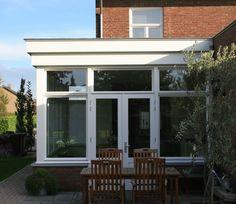 jaren 30 woning 2 Modern Glass House, Glass Room, Weird World, Conservatory, Porch, New Homes, 1, Home And Garden, Exterior