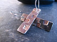 Your place to buy and sell all things handmade Silver Earrings, Copper, Buy And Sell, Personalized Items, Handmade, Stuff To Buy, Design, Hand Made, Craft