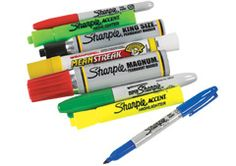 Various Markers & Stencils, Sharpie, Spray Inks, Oil Boards, Brass Stencils available!