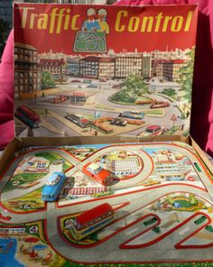 Antique Tin Toy Technofix Traffic Control Roller Coaster Litho Germany Track
