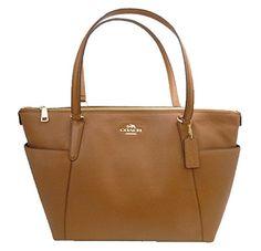 Coach Ava Tote Handbag in Pebble Leather Saddle