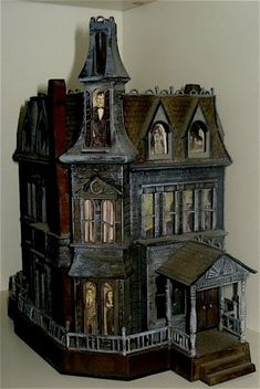 Addams Family dollhouse (look at the windows). Perfect for baby bats!