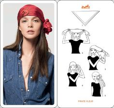 designers block: Hermes - How To Fold and Tie a Scarf