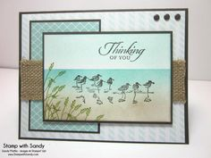 Sandpipers on the Beach, PP203 by stampwithsandy - Cards and Paper Crafts at Splitcoaststampers