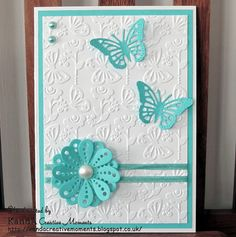 KandA Creative Moments blog: Turquoise card