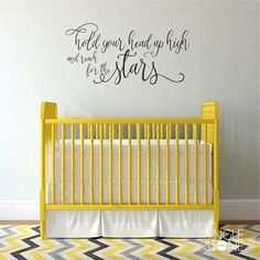 Reach For The Stars Wall Decal Quote Nursery Vinyl Wall