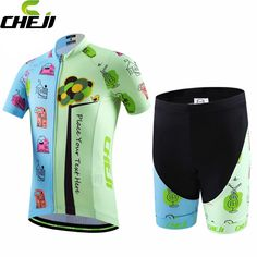 135a4db84 CHEJI Children Cute Racing Ropa Ciclismo Cycling Jersey Bike Short Sleeve  Clothing Set Bicycle Kid Pad Shorts-in Cycling Sets from Sports    Entertainment on ...
