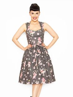 This Bernie Dexter dress could be recreated using the Michael Miller fabric and Sewaholic's Cambie dress pattern.