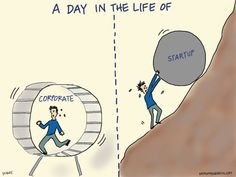 A Day in the Life of: Corporate vs. Startup image entrepreneurfail A Day in the LIfe of Start Ups, A Day In Life, The Life, Start Up Business, Starting A Business, Business Desk, Successful Business, Corporate Business, Successful People