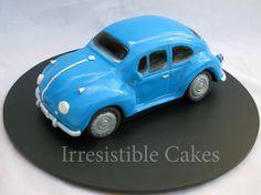 Blue VW cake