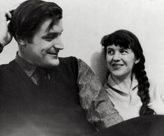 Sylvia Plath with Ted Hughes
