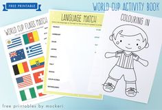 Free Printable: World Cup 2014 Activity Book | Mockeri