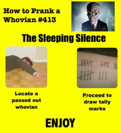 How to Prank a Whovian - I would cry..