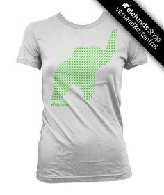#elefunds - #Crowded - Frauen T-Shirt - weiß/neon-grün - 21,40€ - 100% organic cotton and fairtrade - Versand kostenlos