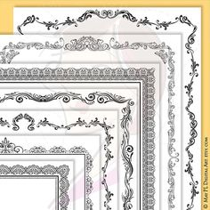 Page Border Certificate Frames Vintage Borders great as Award Diplomas Document Portrait Digital 8x11 Antique Heritage…