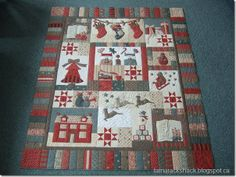 """I have this pattern to do, this one combined 2 patterns, mine is just """"The Night Before Christmas"""" by Bunny Hill.  Hope it's done by next Christmas!"""