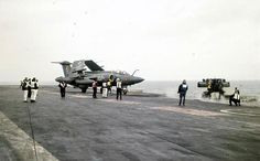 Blackburn Buccaneer on HMS Eagle Navy Aircraft, Military Aircraft, British Aircraft Carrier, Blackburn Buccaneer, Naval Aviator, Capital Ship, Royal Air Force, Royal Navy, Battleship