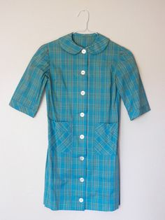Vintage 1960s peter pan collared scooter shirt/mini by sevendevils, $18.00