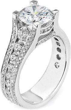 Michael M. Channel Set Diamond Engagement Ring- since1910.com