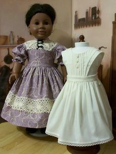 Civil War Pinafore and Gown made for Addy by Keepersdollyduds, via Flickr