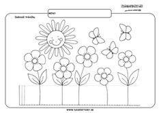 Tráva - grafomotorika - pracovné listy pre deti Flower Activities For Kids, Crafts For Kids, Preschool Worksheets, Homeschool, Nursery, Education, Drawing, Fine Motor, Step By Step