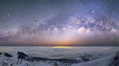 The Milky Way as seen from the summit of Mauna Kea