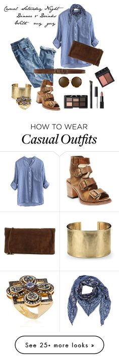 """""""Casual Saturday Night"""" by tallcupofcoffee on Polyvore featuring J.Crew, Steven by Steve Madden, Donna Karan, Dsquared2, Blue Nile, Diesel, Le Sibille, Linda Farrow and NARS Cosmetics"""
