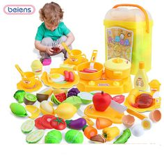 pretend play food game kit kat frying pan toys for children for girl kitchen vegetable cutting educational toy squishy pots