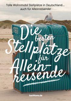 #RoadTrip #Reiseziel #Deutschland für #Solotraveller Du suchst nach schönen, sicheren und besonderen Wohnmobil Stellplätzen für Deine Wochenendtouren? Ich verrate Dir meine Lieblingsplätze in Deutschland für Alleinreisende aus den vergangenen 5 Jahre als Womo-Alleinfahrer.