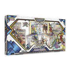 Pokemon TCG: Legends of Johto Gx Premium Collection Box Rare Pokemon Cards, Pokemon Trading Card, Trading Cards, Best Legendary Pokemon, Las Vegas Vacation, Cool Pokemon, Ready To Play, Pin Collection, Aurora